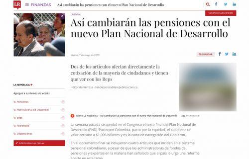 Cambios en las pensiones en el nuevo Plan Nacional de Desarrollo