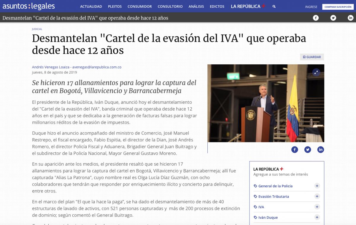 """Desmantelan """"Cartel de la evasión del IVA"""" que operaba desde hace 12 años"""