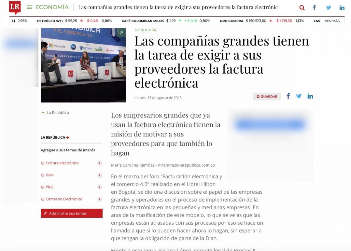 Las compañías grandes tienen la misión de exigir a sus proveedores la factura electrónica