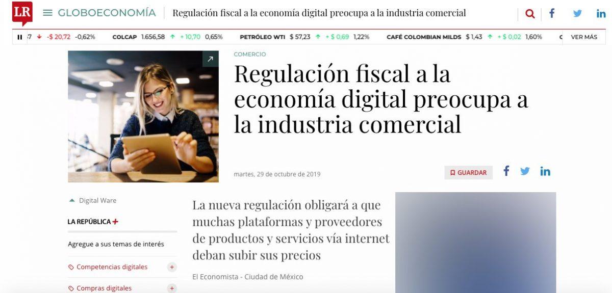 Las preocupaciones de la regulación fiscal de la economía digital