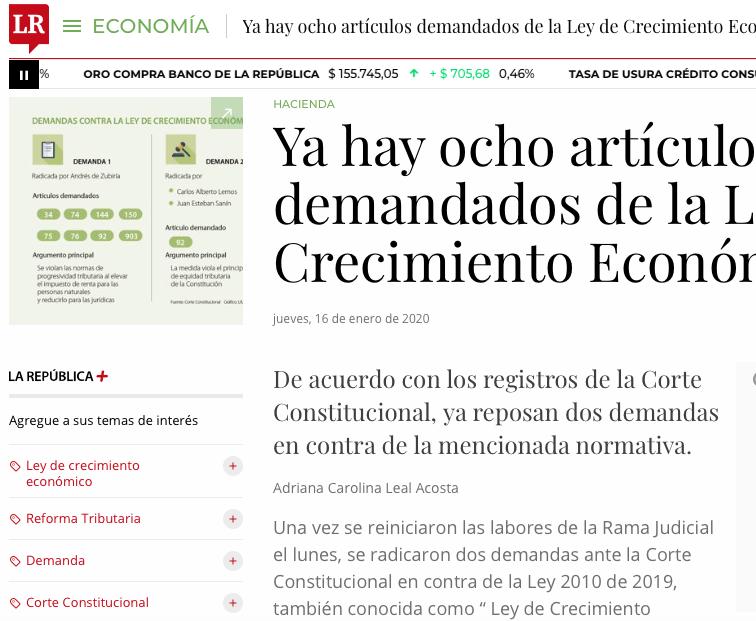 Ocho artículos demandados en la Ley de Crecimiento Económico