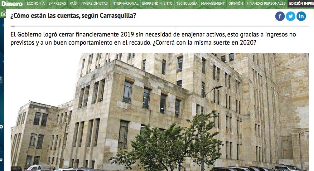Cuentas de la nación según Carrasquilla