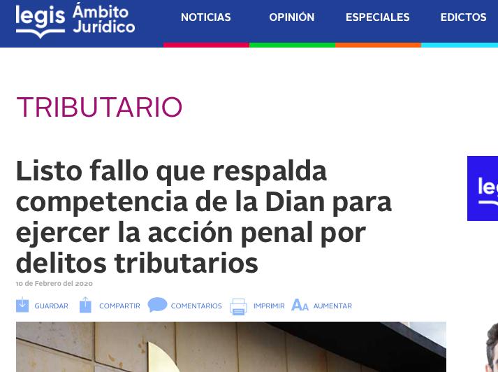 Fallo respalda competencia de la Dian para ejercer la acción penal por delitos tributarios