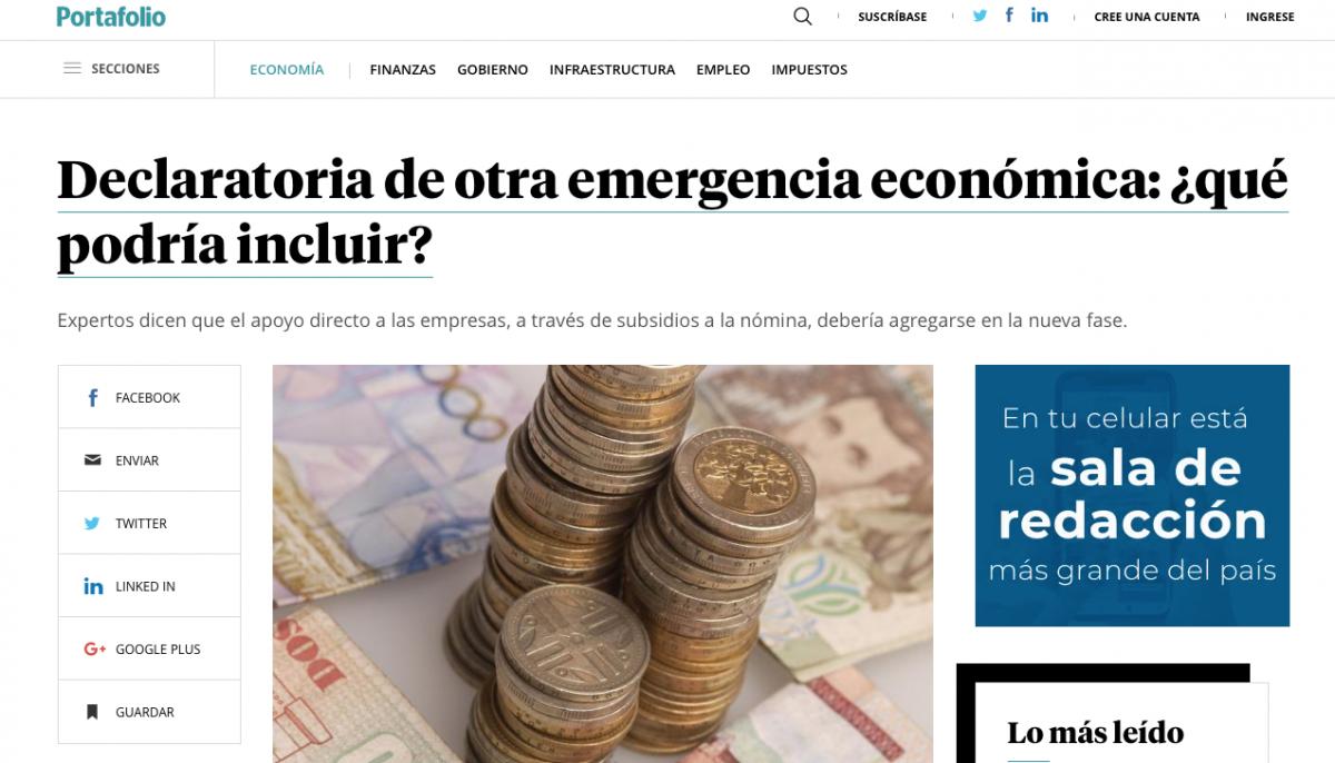 ¿Qué podría incluir la declaratoria de otra emergencia económica?