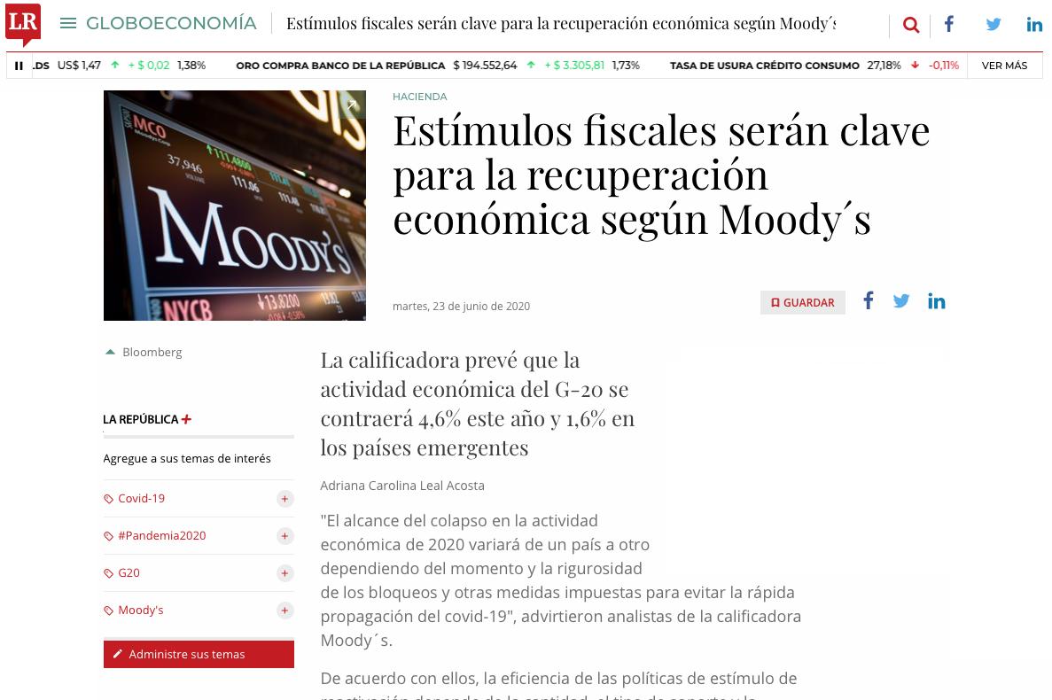 Estímulos fiscales serían clave para la recuperación económica
