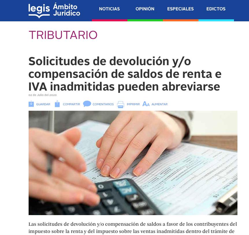 Solicitudes de devolución de renta e IVA inadmitidas pueden abreviarse