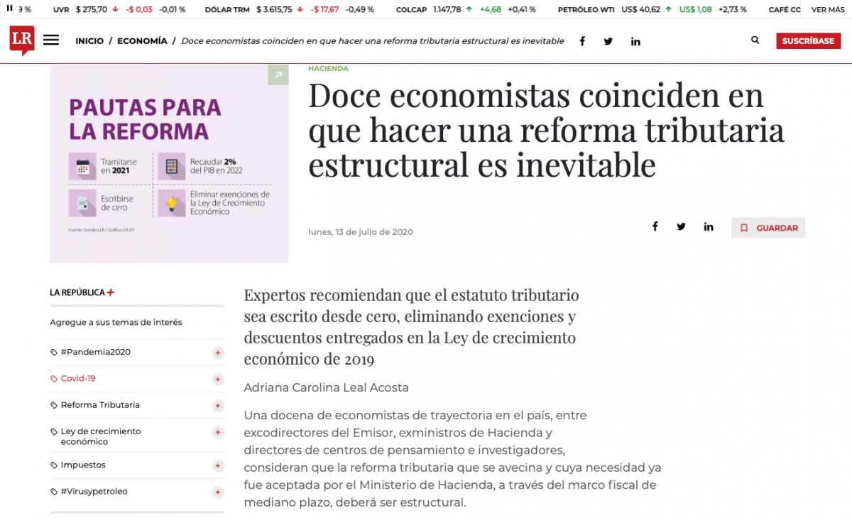 Economistas coinciden en que es necesaria una reforma tributaria estructural