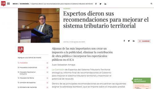 Comisión de expertos dio sus recomendaciones para mejorar el sistema tributario territorial