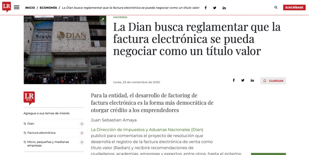 La Dian busca reglamentar que la factura electrónica se pueda negociar como un título valor