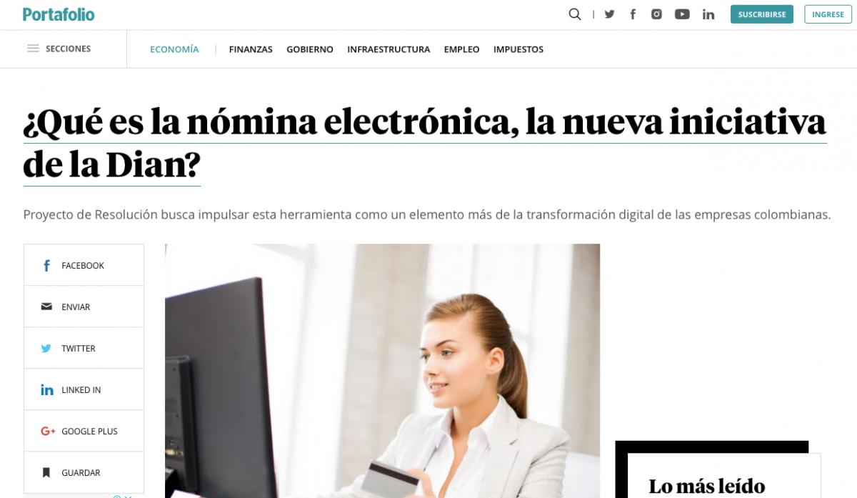 Nómina Electrónica, la nueva iniciativa de la Dian