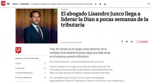 El abogado Lisandro Junco llega a liderar la Dian a pocas semanas de la tributaria