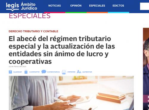 El abecé del régimen tributario especial y la actualización de las entidades sin ánimo de lucro y cooperativas